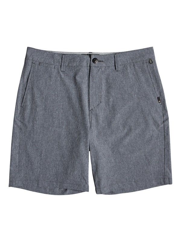 "0 Union Heather 19"" - Amphibian Board Shorts for Men Black EQYWS03605 Quiksilver"