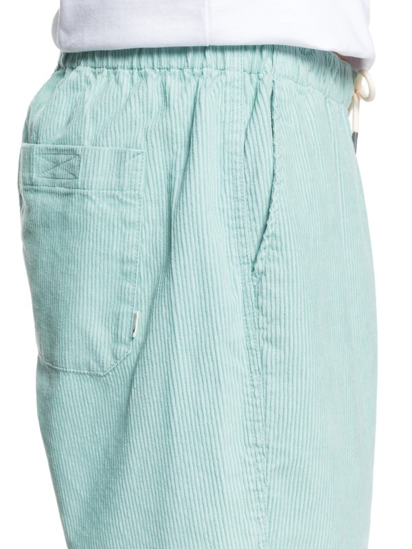 """Wax Out 18"""" - Elasticated Corduroy Shorts for Men  EQYWS03608"""