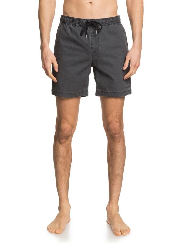 "0 Taxer 17"" Elasticized Shorts Black EQYWS03610 Quiksilver"