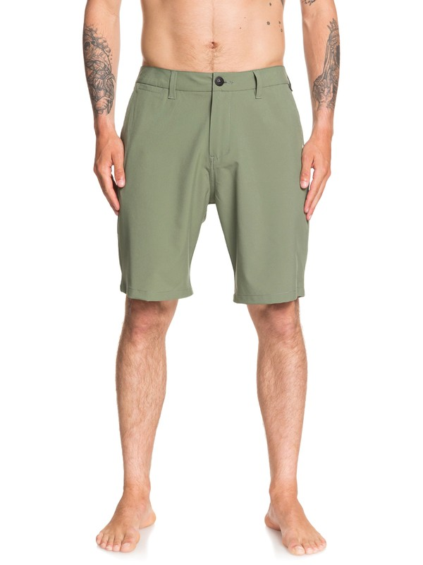 "0 Union 20"" Amphibian Boardshorts Green EQYWS03625 Quiksilver"