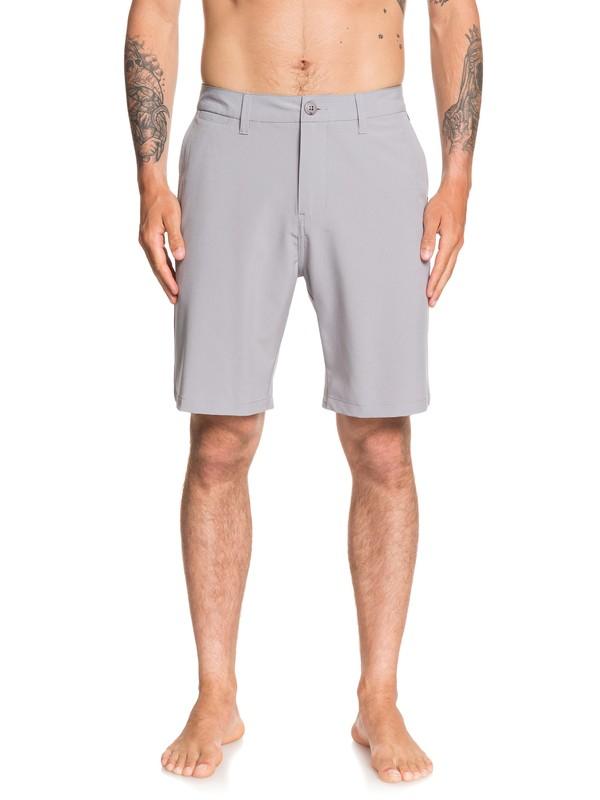 "0 Union 20"" Amphibian Boardshorts Grey EQYWS03625 Quiksilver"