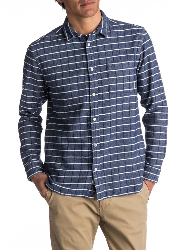 0 Crossed Tide Flannel Long Sleeve Shirt  EQYWT03529 Quiksilver