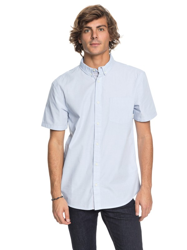 0 Valley Groove Short Sleeve Shirt Blue EQYWT03631 Quiksilver