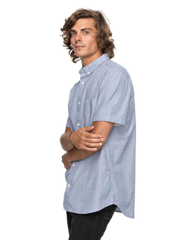 0 Valley Groove Short Sleeve Shirt Blue EQYWT03631 Quiksilver
