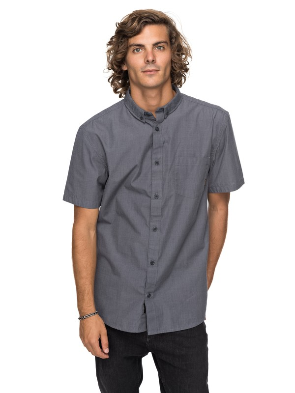 0 Valley Groove Short Sleeve Shirt Black EQYWT03631 Quiksilver