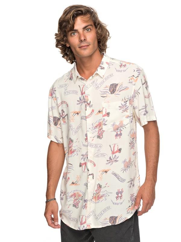 0 Aloha Strip Club - Kurzarmhemd für Männer Weiss EQYWT03646 Quiksilver