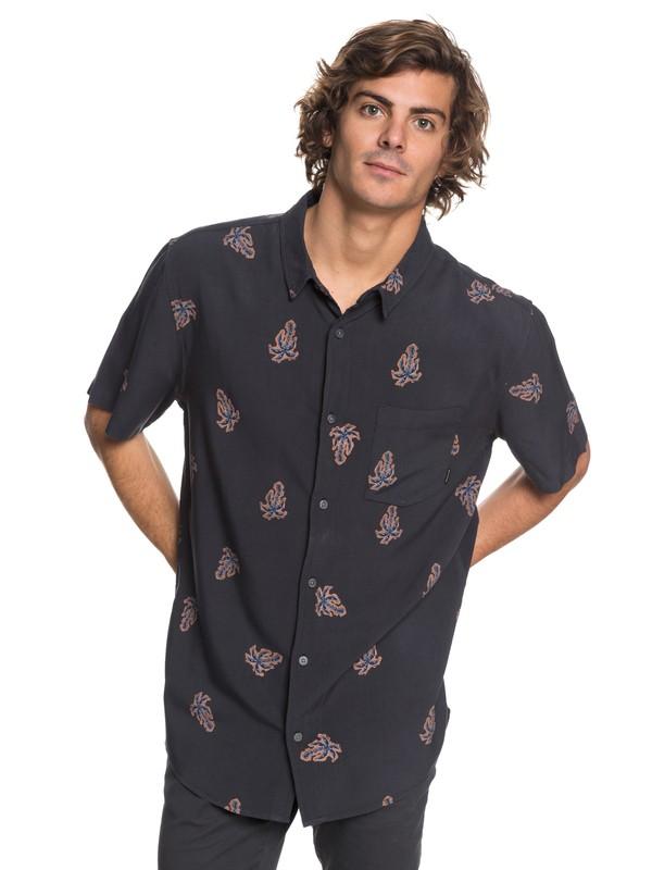 0 Palm Vibration Short Sleeve Shirt Black EQYWT03691 Quiksilver