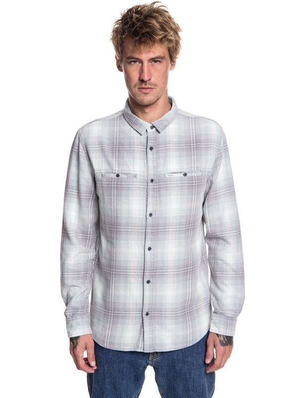 0 Konga Pass Flannel Long Sleeve Shirt Beige EQYWT03695 Quiksilver