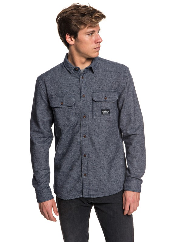 0 Riku Rock - Long Sleeve Shirt for Men Blue EQYWT03696 Quiksilver