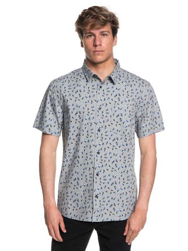 0 Akan Waters Short Sleeve Shirt Grey EQYWT03698 Quiksilver