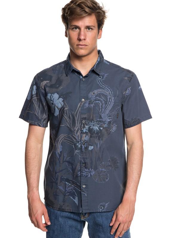 0 Hibashii Short Sleeve Shirt Blue EQYWT03706 Quiksilver