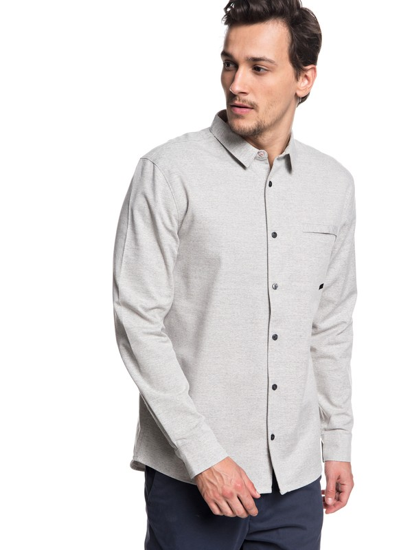 0 QTRVL Long Sleeve Shirt Grey EQYWT03707 Quiksilver