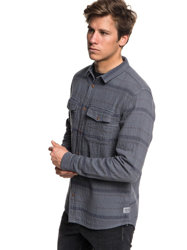 0 Hamada Life Flannel Long Sleeve Shirt Black EQYWT03708 Quiksilver