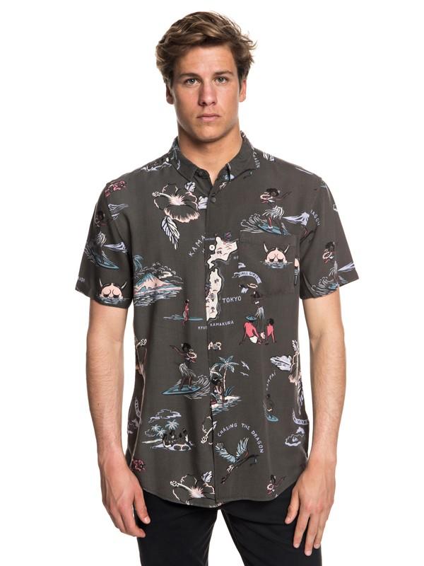0 Camiseta Banzai Camp Negro EQYWT03709 Quiksilver