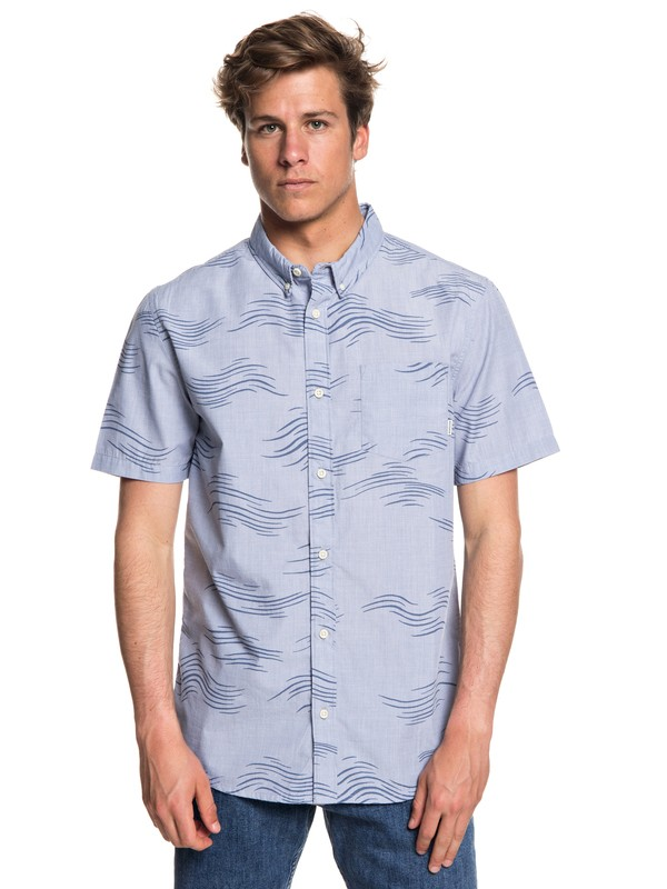0 Valley Groove Short Sleeve Shirt Blue EQYWT03714 Quiksilver