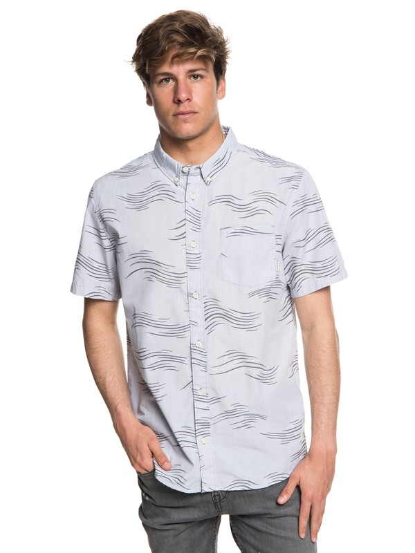 0 Valley Groove Short Sleeve Shirt Grey EQYWT03714 Quiksilver