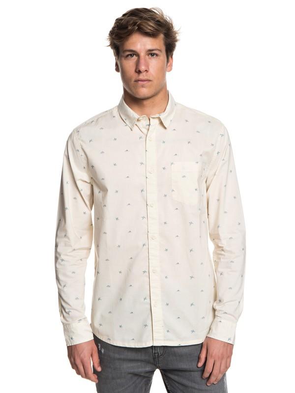 0 Fuji Mini Motif Long Sleeve Shirt White EQYWT03716 Quiksilver