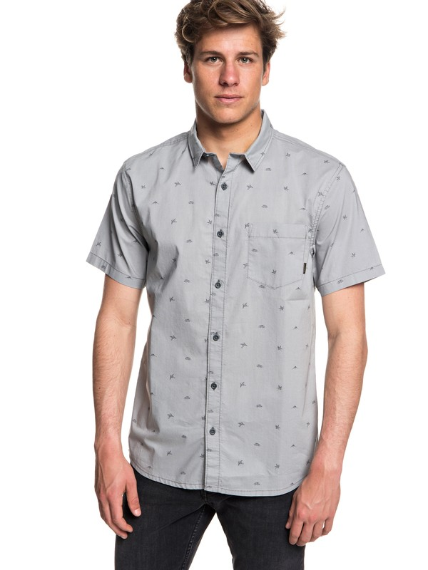 0 Fuji Mini Motif Short Sleeve Shirt Grey EQYWT03717 Quiksilver