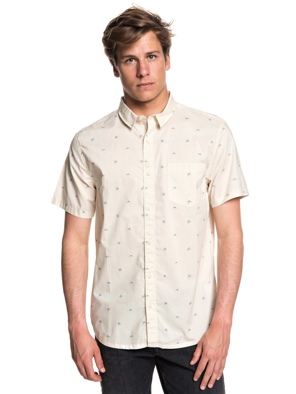0 Fuji Mini Motif Short Sleeve Shirt White EQYWT03717 Quiksilver