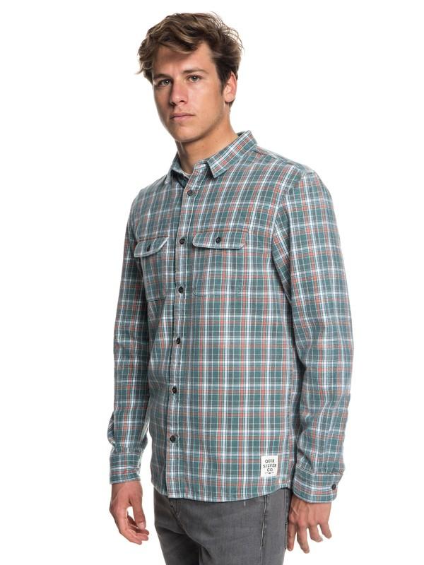 0 Fuji Tang Long Sleeve Shirt Blue EQYWT03718 Quiksilver