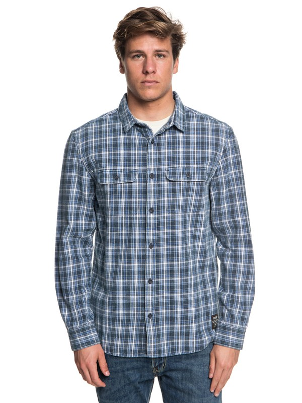 0 Fuji Tang Long Sleeve Shirt Blue EQYWT03718 Quiksilver