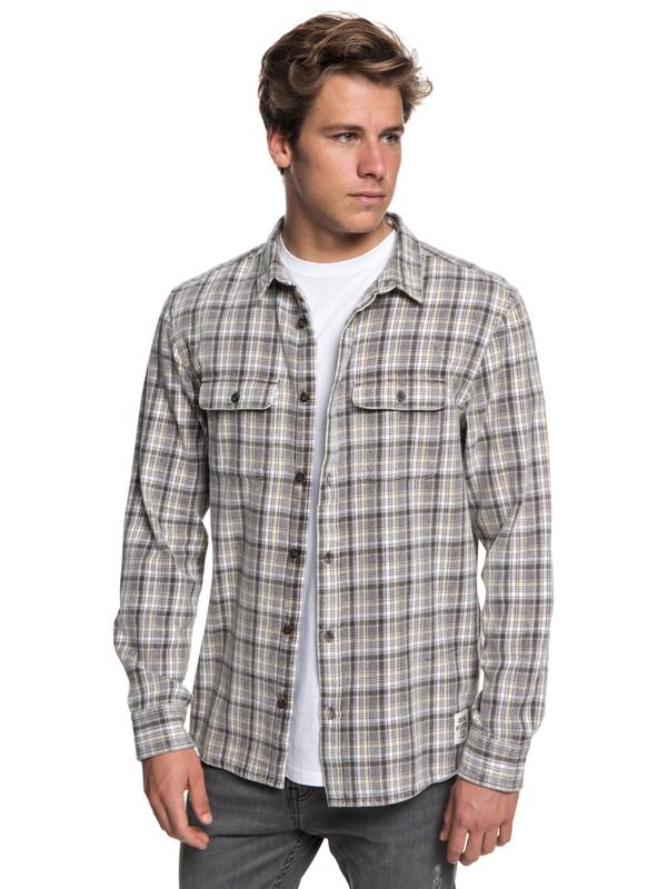 0 Fuji Tang Long Sleeve Shirt Grey EQYWT03718 Quiksilver