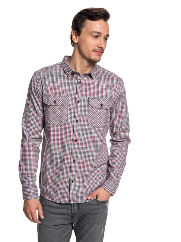 0 Fuji View Flannel Long Sleeve Shirt Black EQYWT03719 Quiksilver