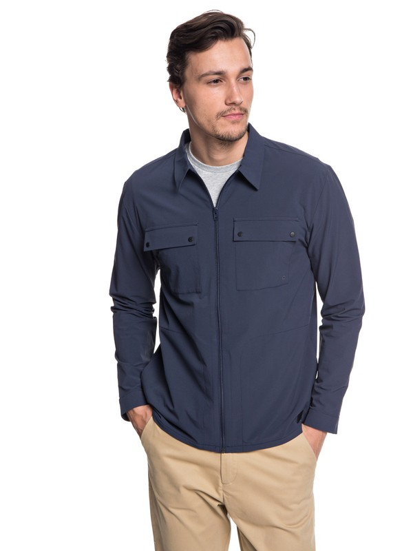 0 Hakone - Long Sleeve Shirt for Men Blue EQYWT03721 Quiksilver