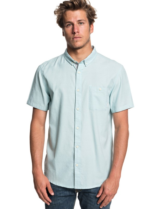 0 Waterfalls Short Sleeve Shirt Blue EQYWT03723 Quiksilver
