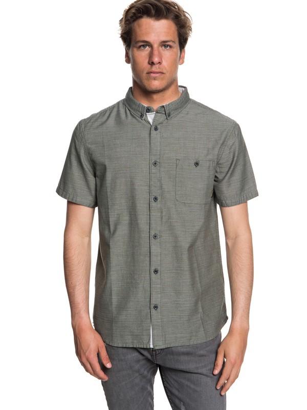 0 Waterfalls Short Sleeve Shirt Brown EQYWT03723 Quiksilver