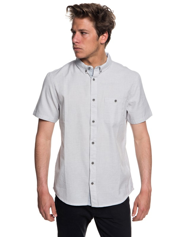 0 Waterfalls Short Sleeve Shirt Grey EQYWT03723 Quiksilver