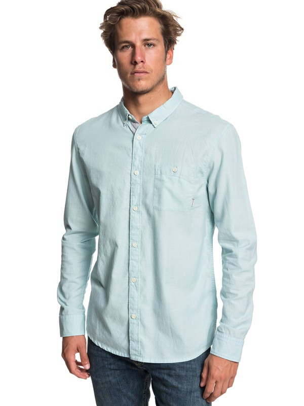 0 Waterfalls Long Sleeve Shirt Blue EQYWT03725 Quiksilver