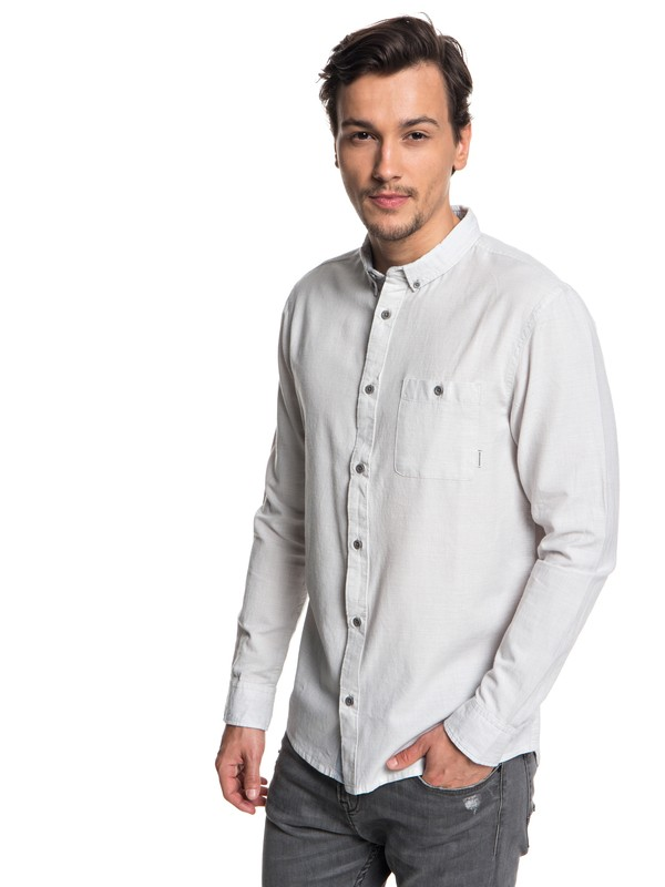 0 Waterfalls Long Sleeve Shirt Grey EQYWT03725 Quiksilver
