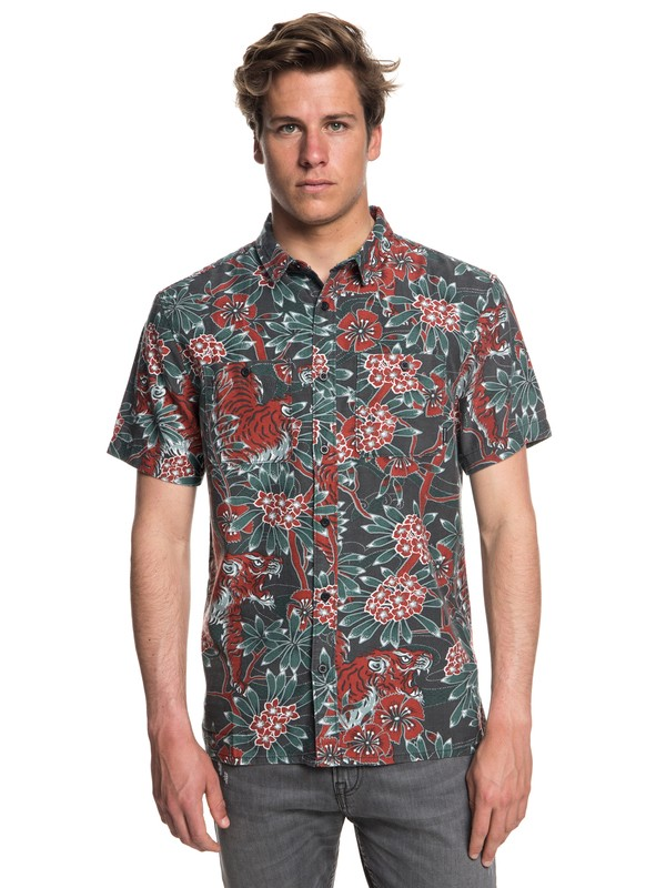 0 Silent Fury Short Sleeve Shirt Black EQYWT03729 Quiksilver
