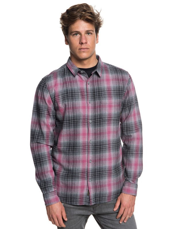 0 Fatherfly FLannel Long Sleeve Shirt Black EQYWT03730 Quiksilver