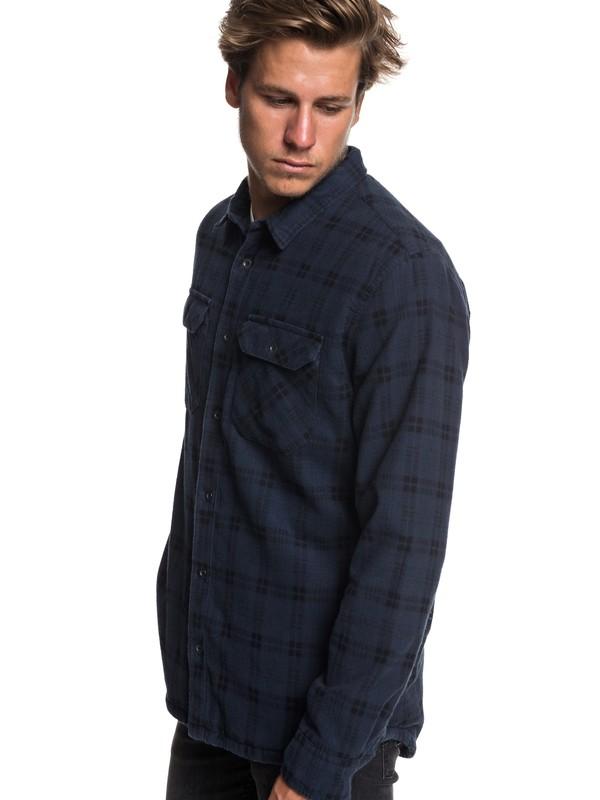 0 Black Ikura Long Sleeve Fleece Lined Shirt Blue EQYWT03743 Quiksilver