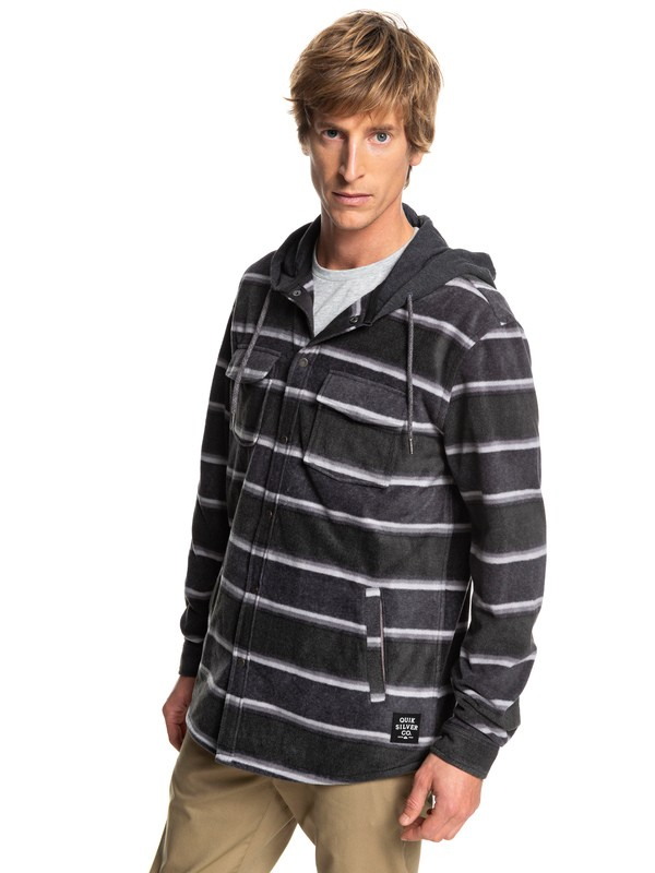 0 Surf Days Long Sleeve Hooded Shirt Black EQYWT03744 Quiksilver