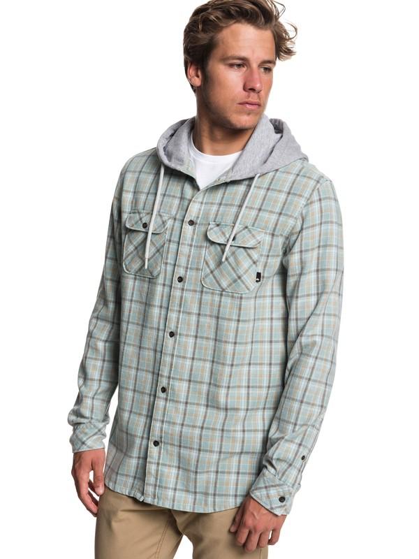 0 Fuji Tang Long Sleeve Hooded Shirt  EQYWT03745 Quiksilver