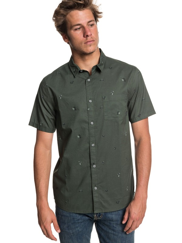 0 Mini Kamakura Short Sleeve Shirt Brown EQYWT03752 Quiksilver