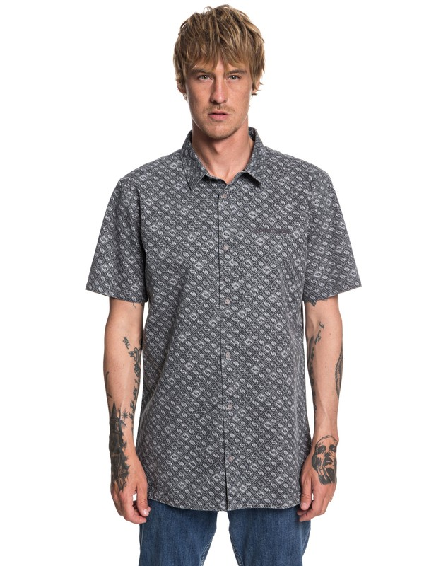 0 Walls Short Sleeve Shirt Black EQYWT03759 Quiksilver