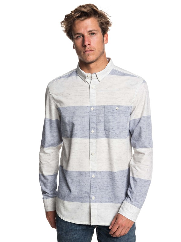 0 Minoo Valley Stripes Long Sleeve Shirt Blue EQYWT03765 Quiksilver