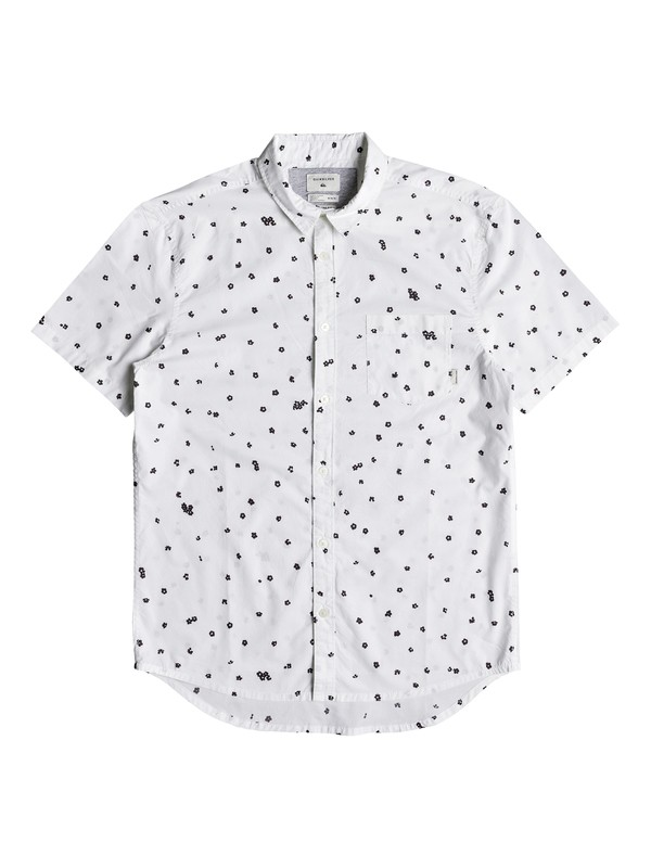 0 Cherry Pop Short Sleeve Shirt White EQYWT03766 Quiksilver