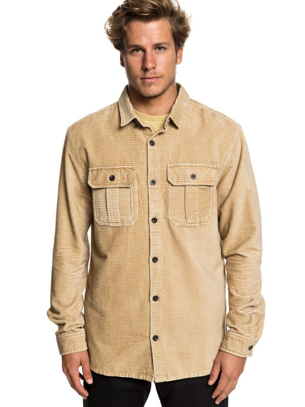 0 Melton Minds - Long Sleeve Shirt for Men Brown EQYWT03776 Quiksilver
