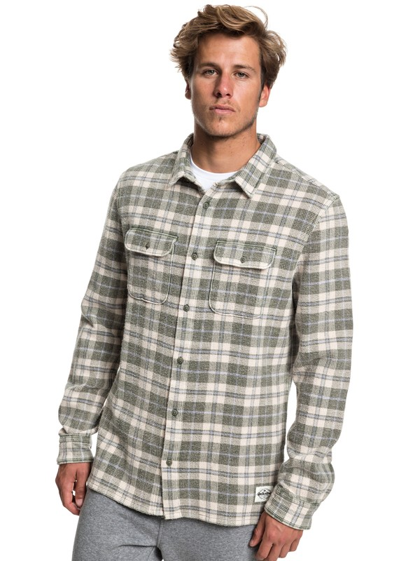 0 Strutten Blues Long Sleeve Shirt Brown EQYWT03778 Quiksilver