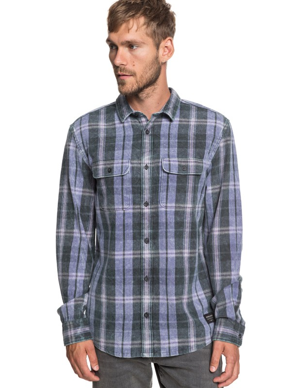 0 Super Tang Long Sleeve Flannel Shirt Black EQYWT03785 Quiksilver