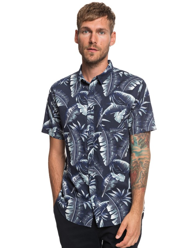 0 Noosa Paradise - Short Sleeve Shirt for Men Blue EQYWT03786 Quiksilver