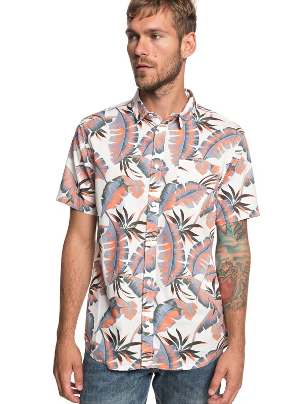 0 Noosa Paradise - Camisa de Manga Corta para Hombre Blanco EQYWT03786 Quiksilver