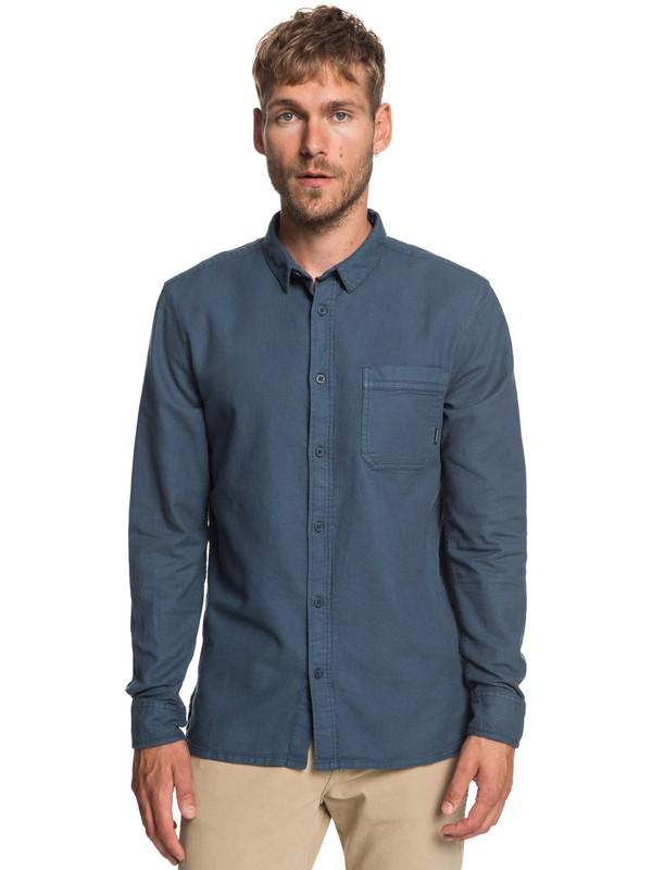 0 Time Box - Long Sleeve Shirt for Men Blue EQYWT03788 Quiksilver