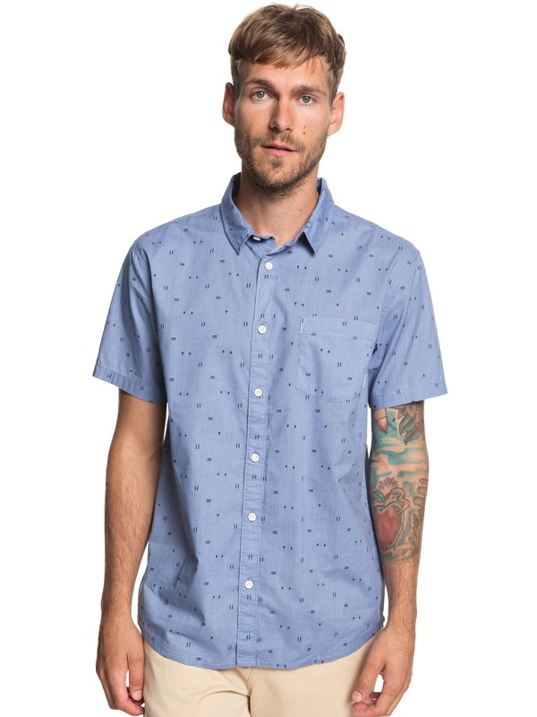0 Rock The Road - Short Sleeve Shirt for Men Blue EQYWT03792 Quiksilver