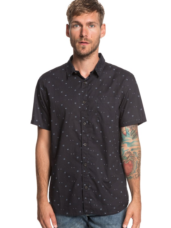 0 Rock The Road - Short Sleeve Shirt for Men Black EQYWT03792 Quiksilver